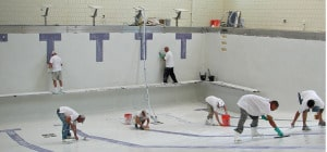 Replastering a pool